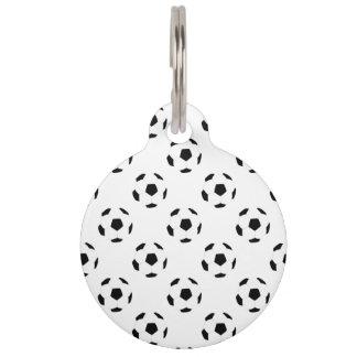 Soccer Ball Pattern Pet Tag