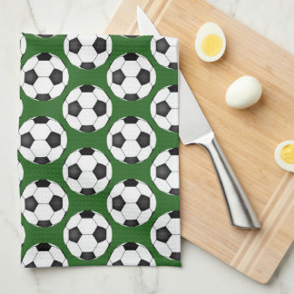Soccer Ball Pattern Tea Towel