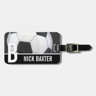 Soccer Ball Personalized Monogram Custom Tag