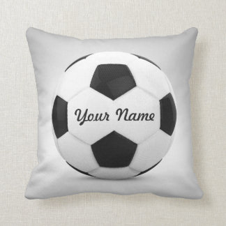 Soccer Ball Personalized Name Throw Pillow