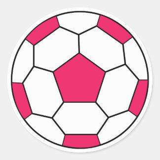 Soccer Ball Pink Sticker