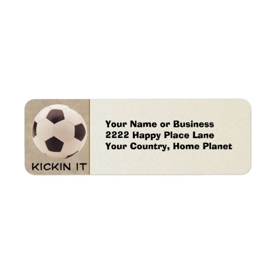 Soccer Ball Return Address Label