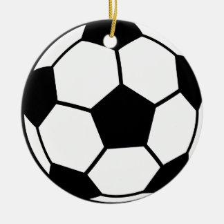 Soccer Ball Round Ceramic Decoration
