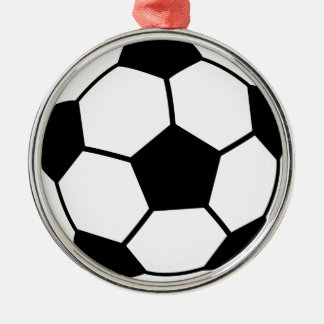 Soccer Ball Silver-Colored Round Decoration