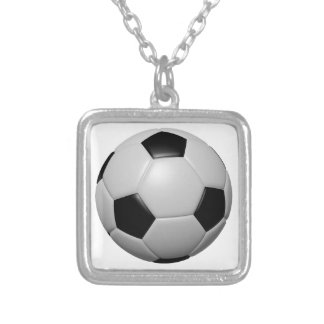 Soccer Ball Silver Plated Necklace