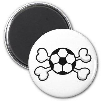 soccer ball Skull and Crossbones Refrigerator Magnet