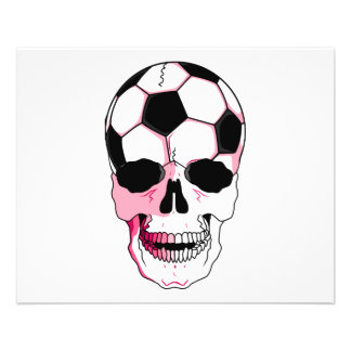 soccer ball skull head girl pink accents flyers