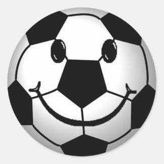 Soccer Ball Smiley Face Sticker
