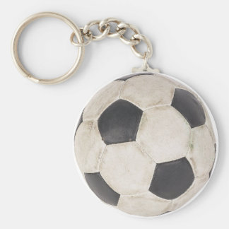 Soccer Ball Soccer Fan Football Footie Soccer Game Basic Round Button Key Ring