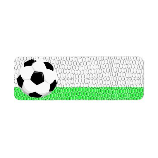 Soccer Ball Sport Label Return Address Label