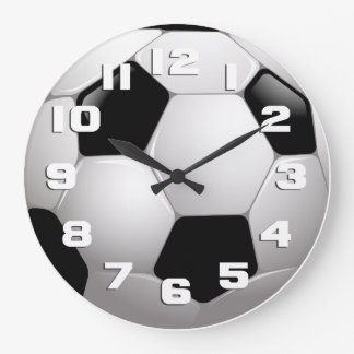 Soccer Ball Sports Large Clock