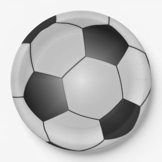 Soccer Ball Sports Plates 9 Inch Paper Plate