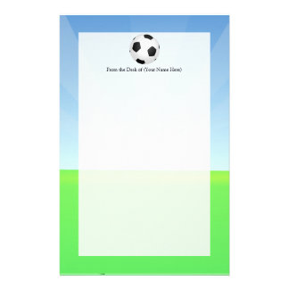 Soccer Ball Sunny Day Customised Stationery