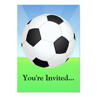 Soccer Ball Sunny Day Custom Announcement