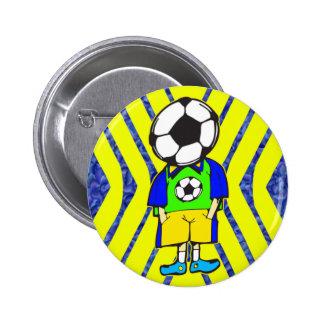 Soccer Ball Team Member Buttons