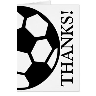 Soccer Ball Thank You Card