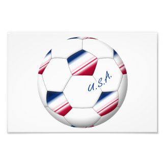 "Soccer ball ""U.S.A."". Ball of Soccer of the USA Photo Print"