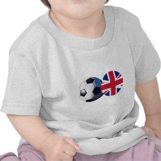 Soccer Ball & UK Flag The MUSEUM Zazzle Shirts