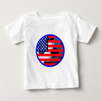 Soccer Ball & USA Flag2 The MUSEUM Zazzle Blue-C Tees