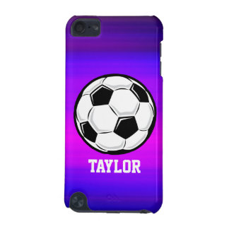 Soccer Ball; Vibrant Violet Blue and Magenta iPod Touch 5G Case