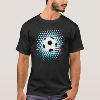 Soccer Ball with blue and white colours T-Shirt