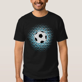 Soccer Ball with blue and white colours Tees