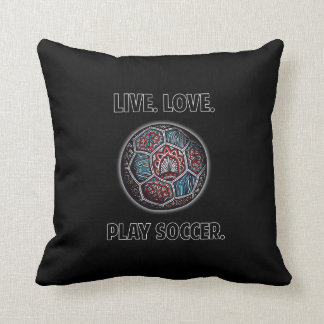Soccer Ball with Text Throw Pillow