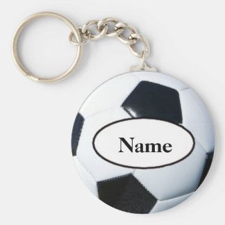 Soccer ball with your nasty on it key ring