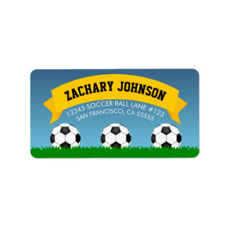 Soccer Balls Label