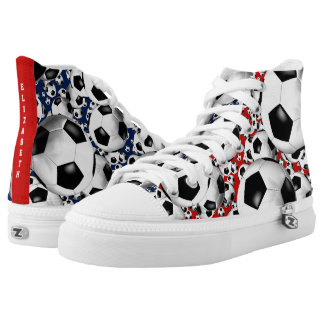 soccer balls red white and blue | choose ANY color High Tops