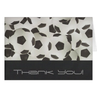 Soccer Balls-Thank You Cards