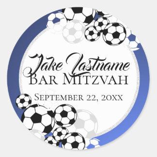 Soccer Bar Mitzvah Classic Round Sticker