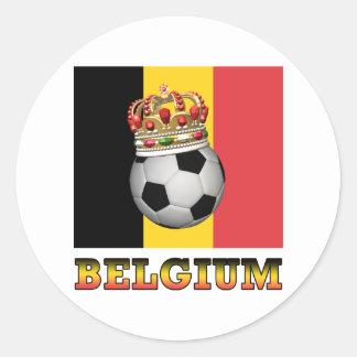 Soccer Belgium Classic Round Sticker
