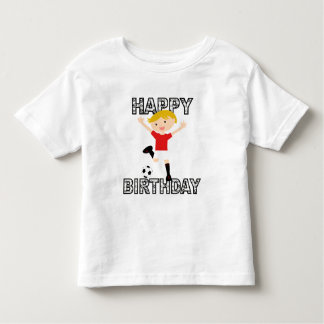 Soccer Birthday Boy 1 Red and White Toddler T-Shirt