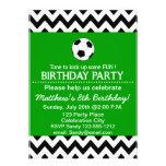 Soccer Birthday Party kids invitation customisable