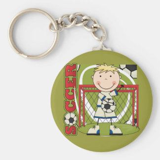 SOCCER - Blond Boy Goalie Tshirts and Gifts Key Chain
