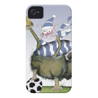 soccer blues kitty iPhone 4 Case-Mate case