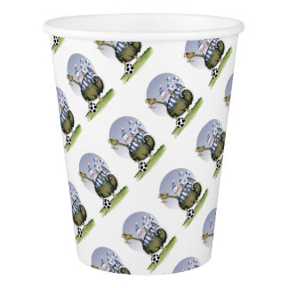 soccer blues kitty paper cup