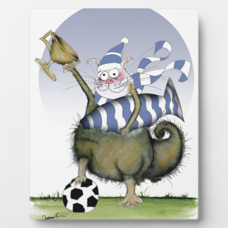 soccer blues kitty plaque