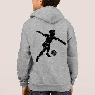 Soccer Boy Kicking Silhouette Hoodie