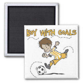 Soccer - Boy With Goals Tshirts and GIfts Square Magnet