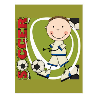 SOCCER - Brunette Boy tshirts and Gifts Postcard