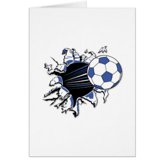 Soccer Burst T-shirts and Gifts Greeting Card