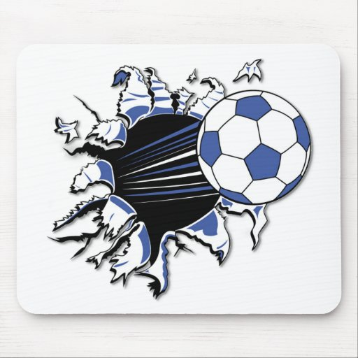 Soccer Burst T-shirts and Gifts Mouse Pad