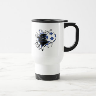 Soccer Burst T-shirts and Gifts Stainless Steel Travel Mug