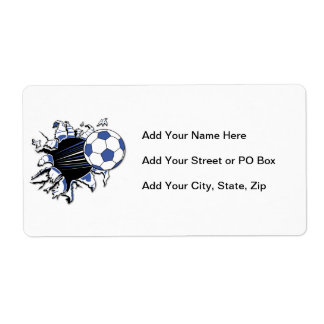 Soccer Burst T-shirts and Gifts Shipping Label