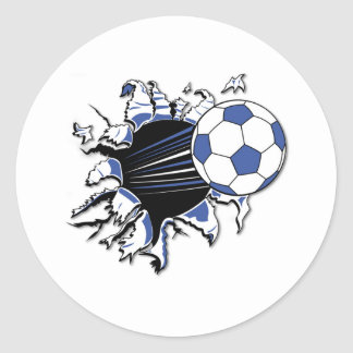 Soccer Burst T-shirts and Gifts Round Sticker