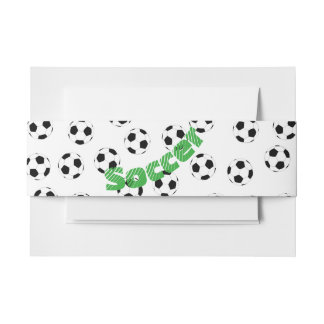 Soccer by The Happy Juul Company Invitation Belly Band