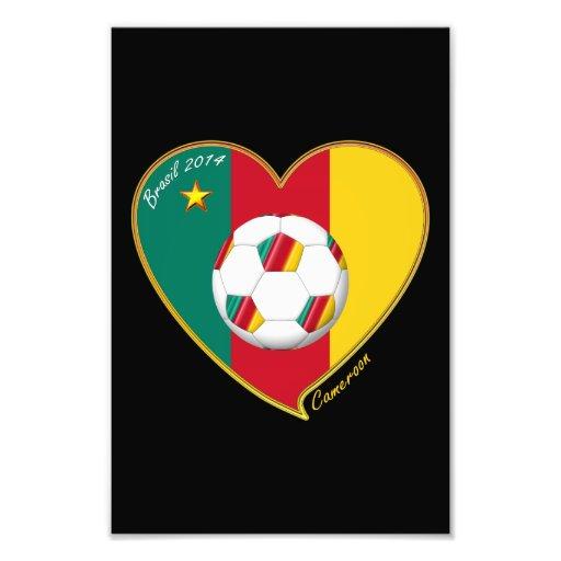 "Soccer ""CAMEROON"" FOOTBALL Team, Soccer of Camerou Photo Print"