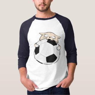 Soccer Cat Men's 3/4 Sleeve Raglan T-Shirt